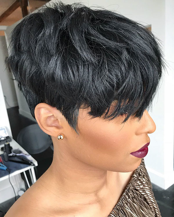 Layered-Pixie-Cut-1 Short Haircuts for Black Women 2019