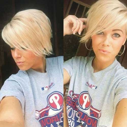Long-Bang-Pixie-Cut Charming Stacked Short Haircuts for Women