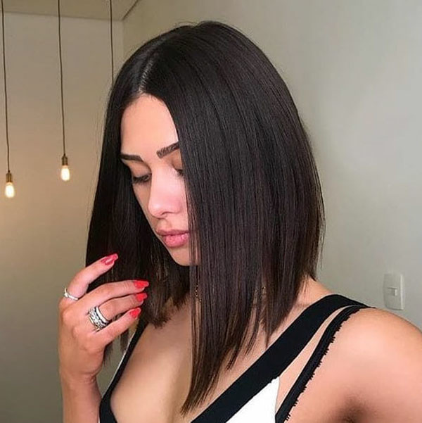 Long-Bob-Straight-Hair Short Straight Hairstyles 2019