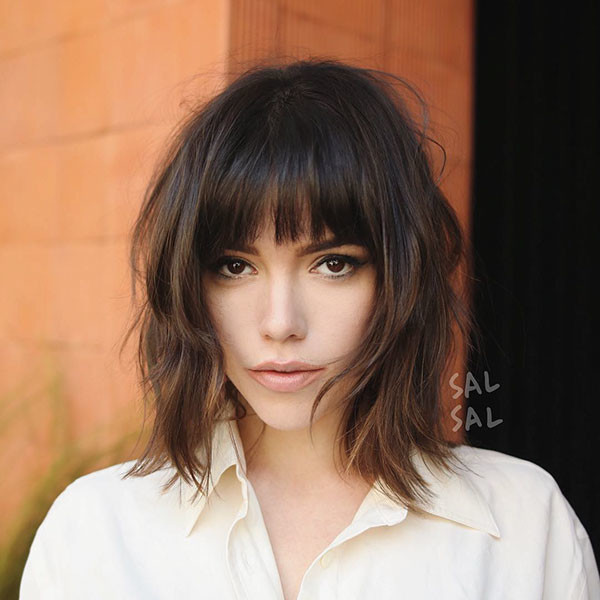 Medium-Short-Hair Short Hairstyles with Bangs 2019