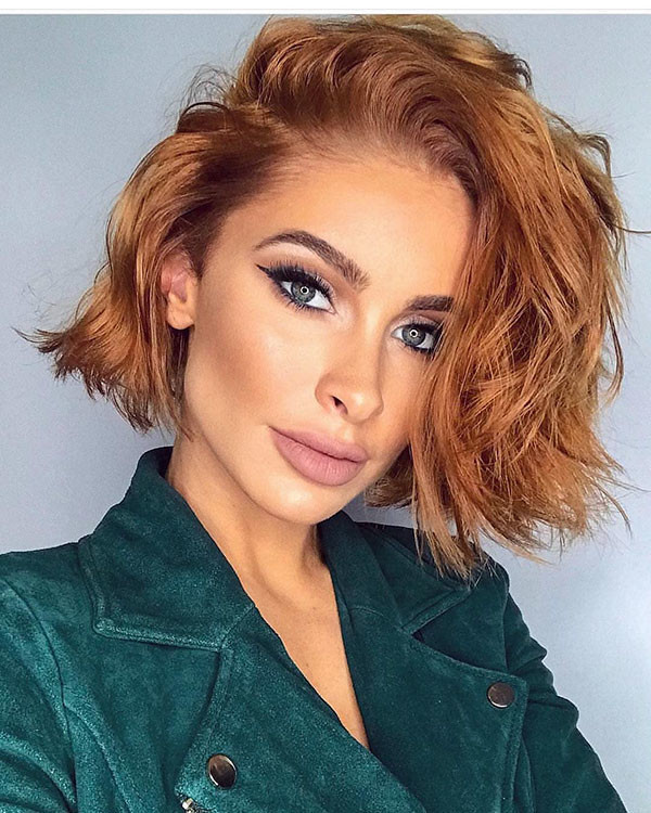 Messy-Bob-Hairstyle Best New Bob Hairstyles 2019