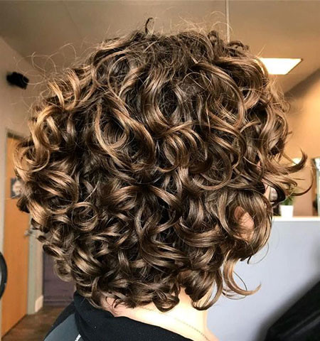Messy-Curly-Hairstyle Popular Short Curly Hairstyles 2018 – 2019