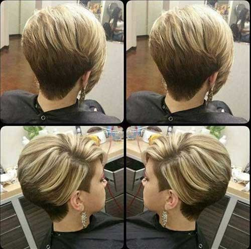 Modern-Blonde-Hair Charming Stacked Short Haircuts for Women