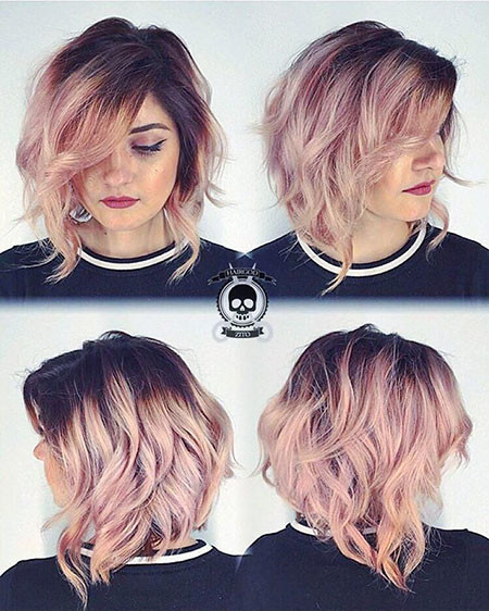 Ombre-Color Hair Color Ideas for Short Haircuts