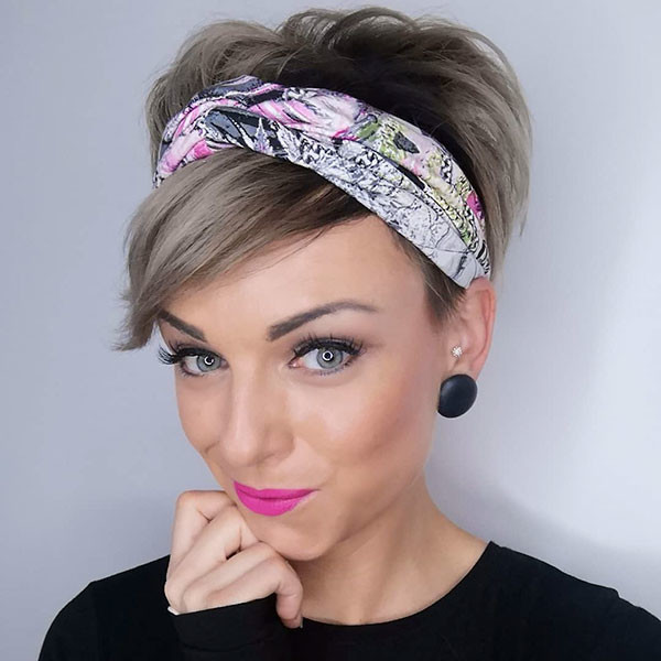 Pixie-Cut-with-Head-Wrap Best Pixie Cut 2019