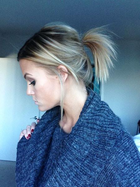 Ponytail-for-Short-Hair Ponytail Hairstyles for Short Hair