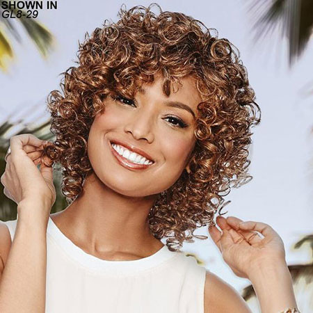 Pretty-Short-Curly-Hairstyle Popular Short Curly Hairstyles 2018 – 2019