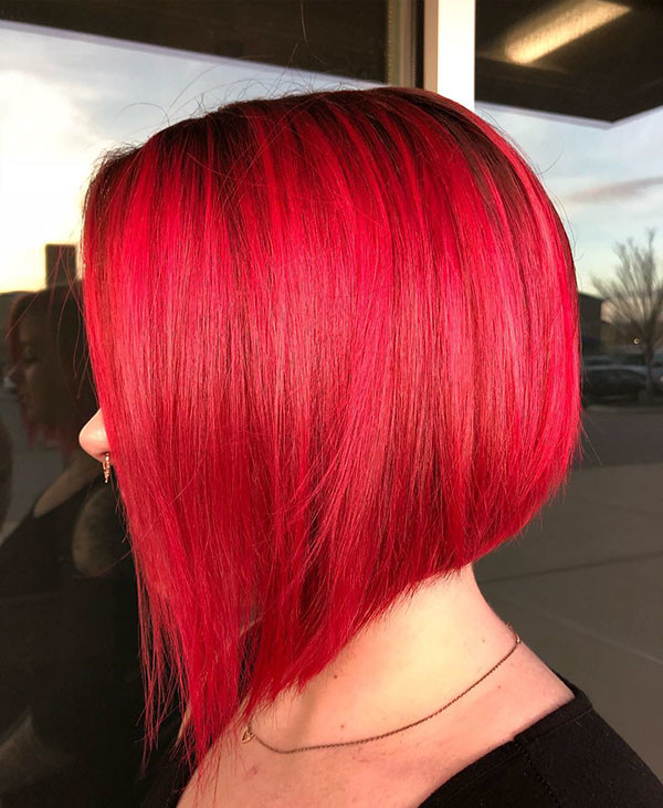 Red-Bob-Hair Best New Bob Hairstyles 2019