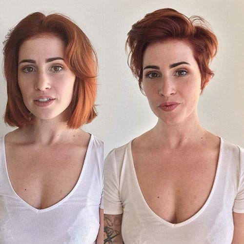 Red-Pixie-Haircut Popular Short Haircuts 2018 – 2019