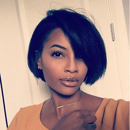 Rounded-Bob Best Short Hairstyles for Black Women 2018 – 2019