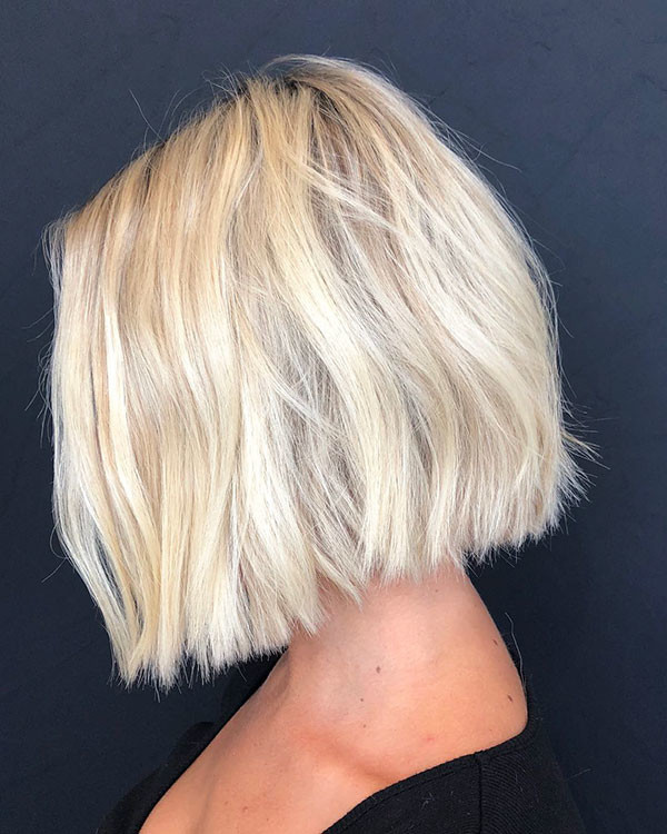 Short-Blonde-Bob-Hairstyle Best New Bob Hairstyles 2019