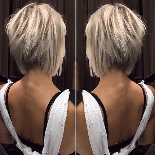 Short-Blonde-Hair Short Layered Haircuts 2018 – 2019