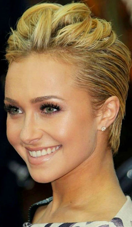 Short-Blonde-Up-Hairtyle Upstyles for Short Hair