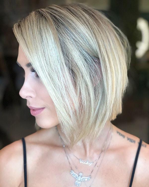 Short-Bob-Hairstyle-1 Short Straight Hairstyles 2019