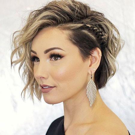 Short-Braid-Hairstyle Popular Short Haircuts 2018 – 2019