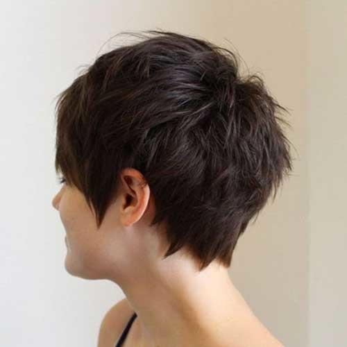 Short-Choppy-Layered-Pixie Best Short Haircuts for 2018-2019