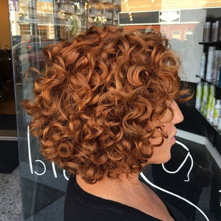 Short-Curly-Copper-Hair Popular Short Curly Hairstyles 2018 – 2019