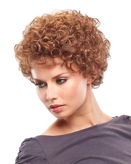 Short-Curly-Hair Popular Short Curly Hairstyles 2018 – 2019