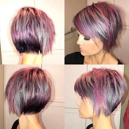 Short-Cute-Hair-Color Short Layered Haircuts 2018 – 2019