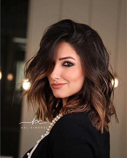 Short-Dark-Brown-Hair Popular Short Haircuts 2018 – 2019