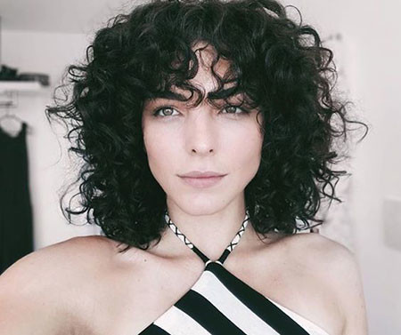 Short-Hairstyle-for-Thick-Curly-Hair Popular Short Curly Hairstyles 2018 – 2019