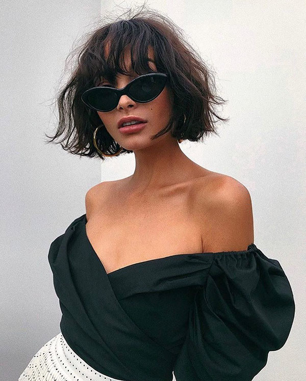 Short-Hairstyle-with-Bangs Short Hairstyles with Bangs 2019