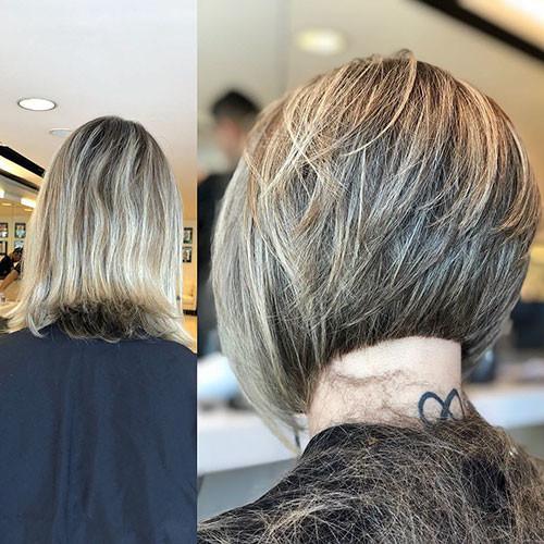 Short-Layered-Bob-Back-View Short Layered Haircuts 2018 – 2019