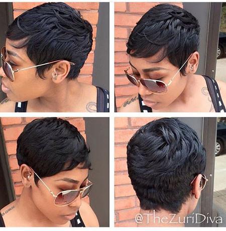 Short-Pixie-Wigs-Black-Hair Best Short Pixie Hairstyles for Black Women 2018 – 2019