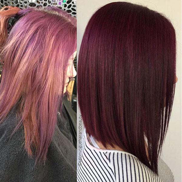 Short-Red-Straight-Hair Short Straight Hairstyles 2019