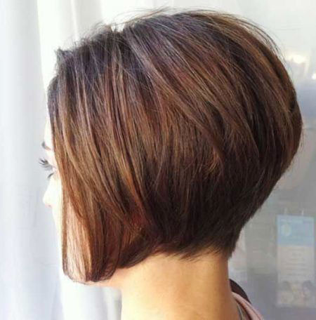 Short-Stacked-Haircut Short Inverted Bob Hairstyles