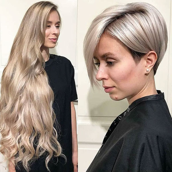 Short-Straight-Blonde-Hair Short Straight Hairstyles 2019