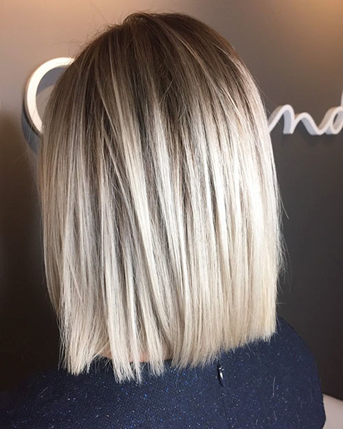 Short-Straight-Blonde-Hairstyle Popular Short Haircuts 2018 – 2019