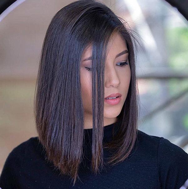 Short-Straight-Hair-for-Round-Face Short Straight Hairstyles 2019