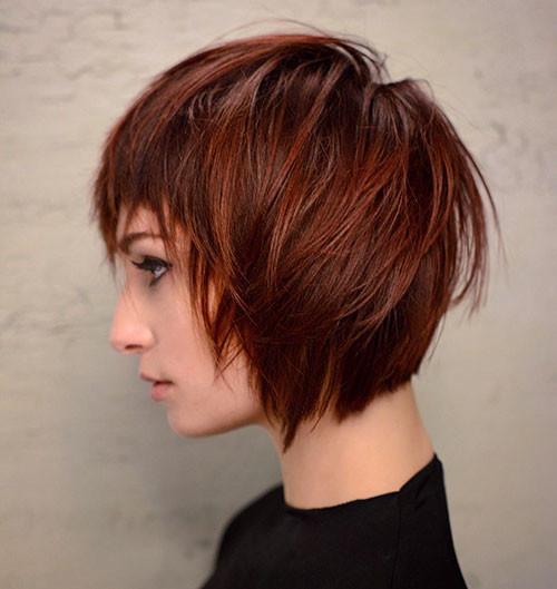 Short-Straight-Hair Short Layered Haircuts 2018 – 2019