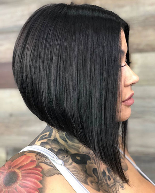 Short-Straight-Thick-Hair Short Straight Hairstyles 2019