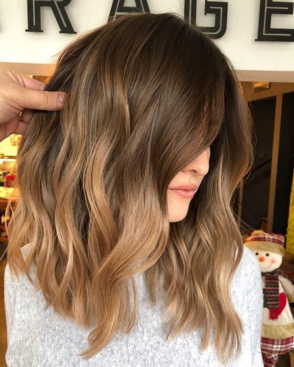 Short-Wavy-Brown-Hair Popular Short Wavy Hairstyles 2019