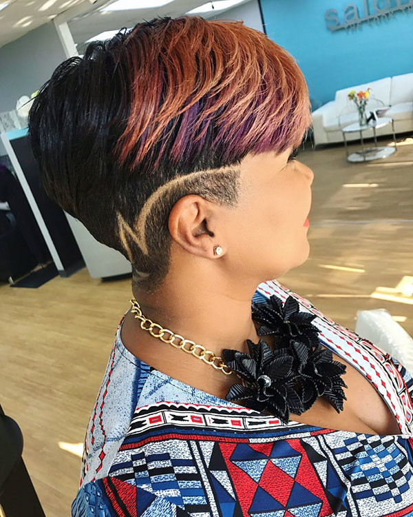 Side-Shaved-Hair Short Haircuts for Black Women 2019