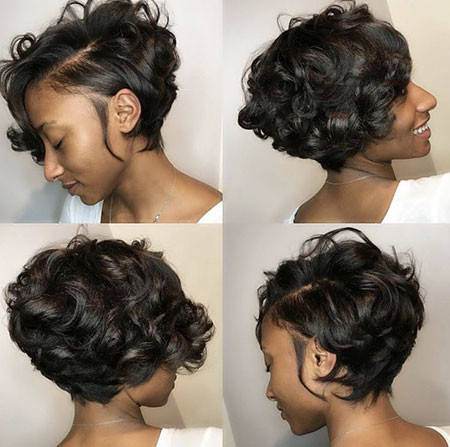 Side-swept-Bob Best Short Hairstyles for Black Women 2018 – 2019