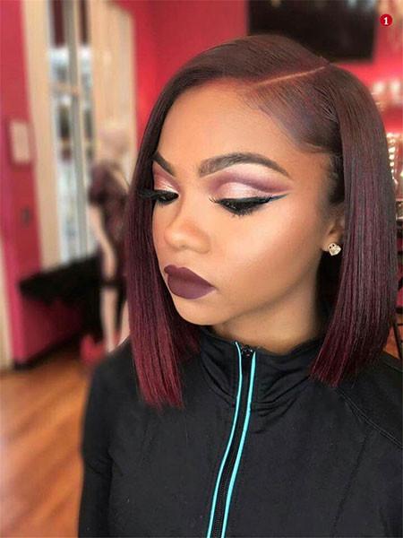 Sleek-Bob-Cut-1 Best Short Hairstyles for Black Women 2018 – 2019