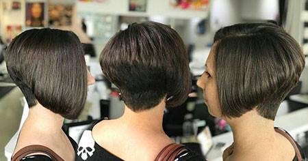 Stacked-Bob-Hair Short Inverted Bob Hairstyles