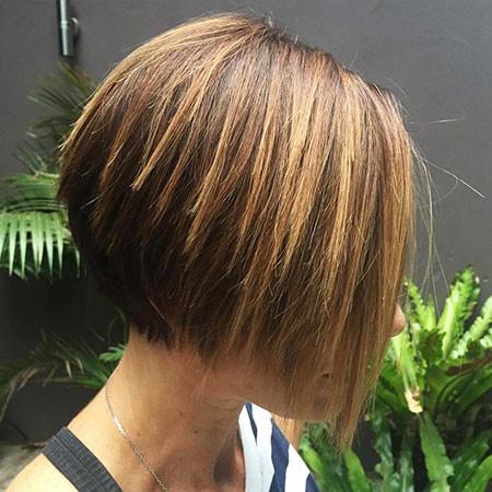 Straight-A-Line-Bob Short Bob Haircuts 2019
