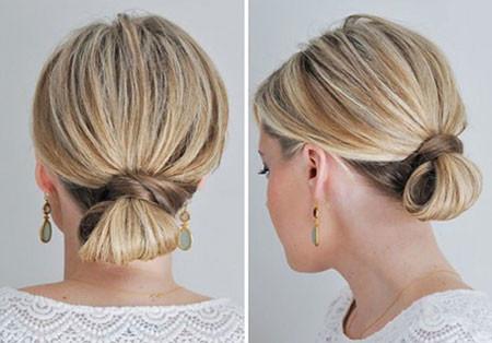 Twisted-Small-Law-Bun Hair Buns for Short Hair