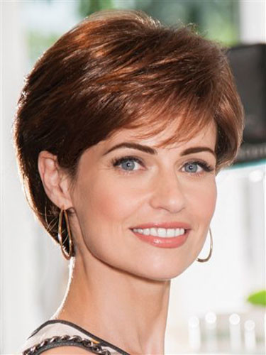 10-short-hairstyles-with-side-bangs Best New Short Hair with Side Swept Bangs