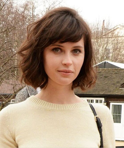 14-short-hair-with-side-swept-bangs Best New Short Hair with Side Swept Bangs
