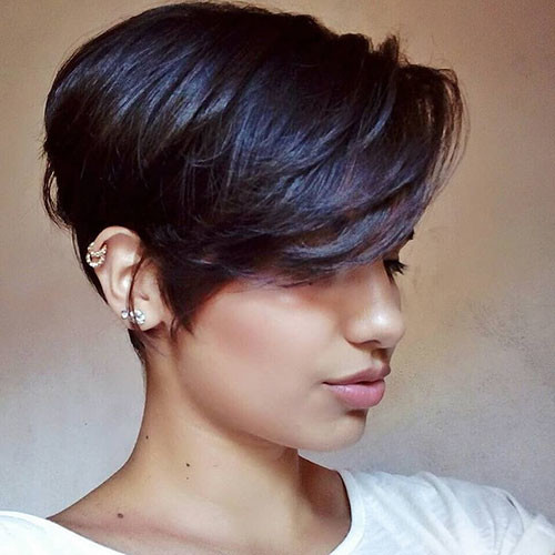 18-short-side-swept-bangs Best New Short Hair with Side Swept Bangs