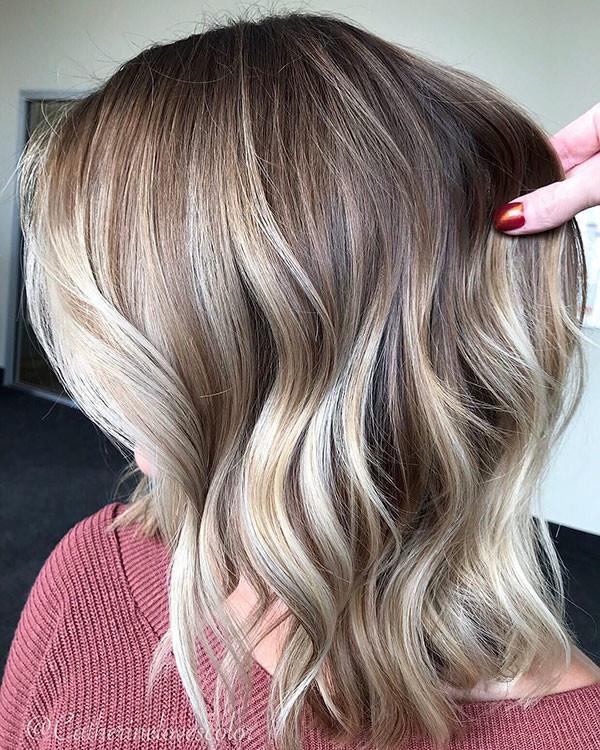 19-short-wavy-hair-women-ombre-color-thich-bob Best Short Wavy Hair Ideas in 2019