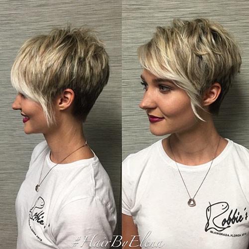 26-short-hair-long-side-bangs Best New Short Hair with Side Swept Bangs