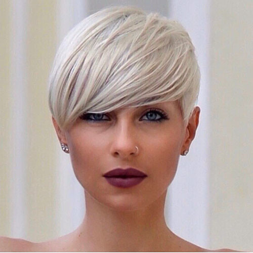 28-short-hairstyles-with-side-bangs Best New Short Hair with Side Swept Bangs