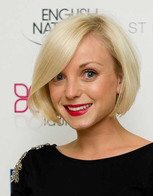 Asymmetrical-Bob-Haircut-for-Fine-Hairstyle-Celebrity Short Straight Hairstyles for Fine Hair