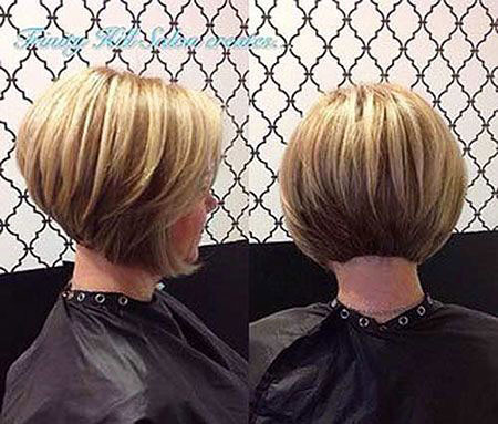 Back-View-of-Bob-Cut Short Bob Haircuts for Women